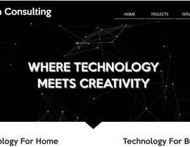 #12 pentru Design smooth, elegant, luxurious, classy, sleek, BUT SIMPLE website for cutting edge technology consulting services. High tech, custom and special systems, futuristic technology company. de către bornajerkovic