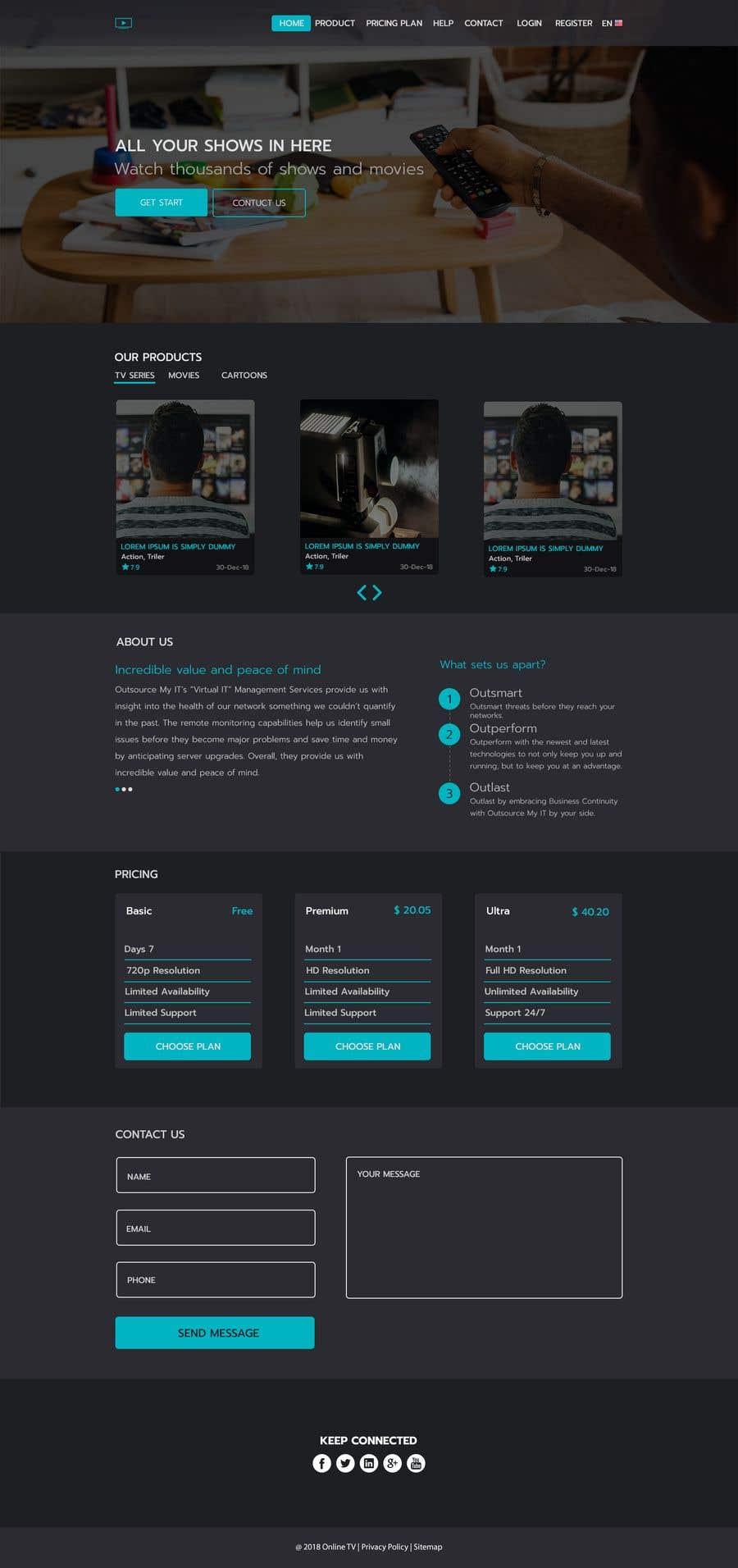 Inscrição nº 36 do Concurso para Website design