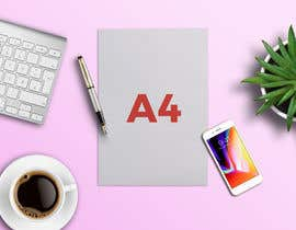 #7 para I need 12 creative flat-lay images constructed in photoshop to showcase A4 sized products. por gamalds1