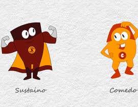 "#74 для Design two ""cartoon-super-hero-funny"" characters от rajgraphicmagic"