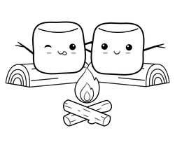#29 for Drawing two marshmallows (as friends) around a campfire by reemalnounou