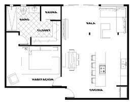 #31 для Floorplan for luxury vacation apartment от scvarquitectura
