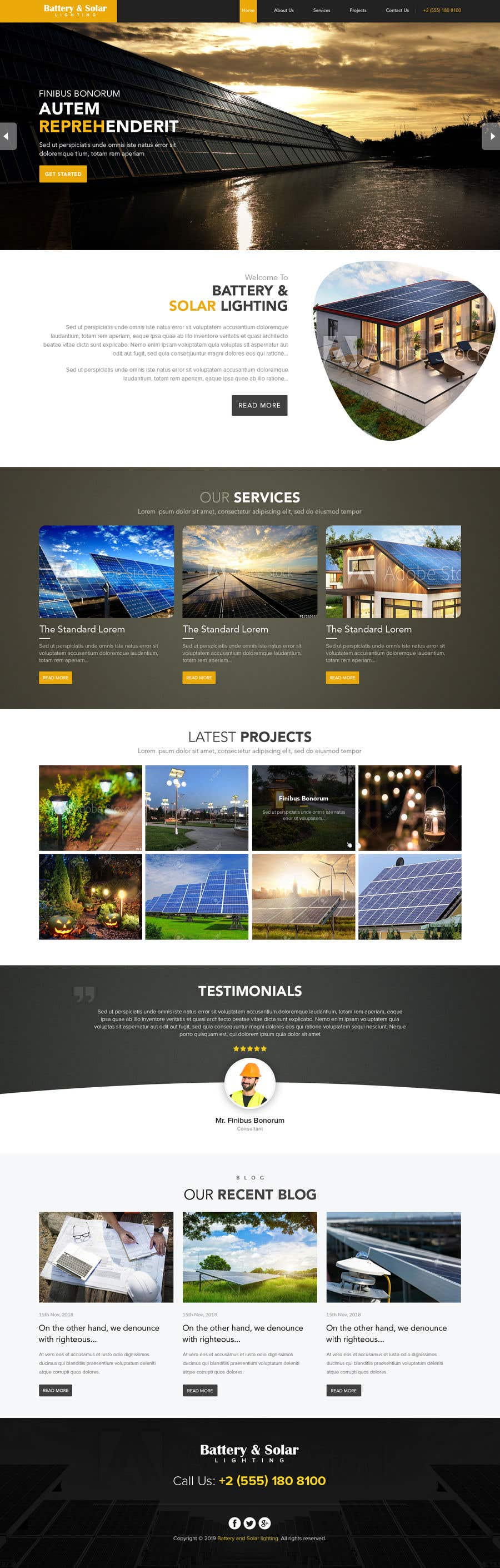 Penyertaan Peraduan #27 untuk wordpress theme design for battery and lighting subject