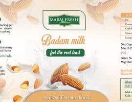 #25 for Design a label for  bottled milk juices by biswasshuvankar2