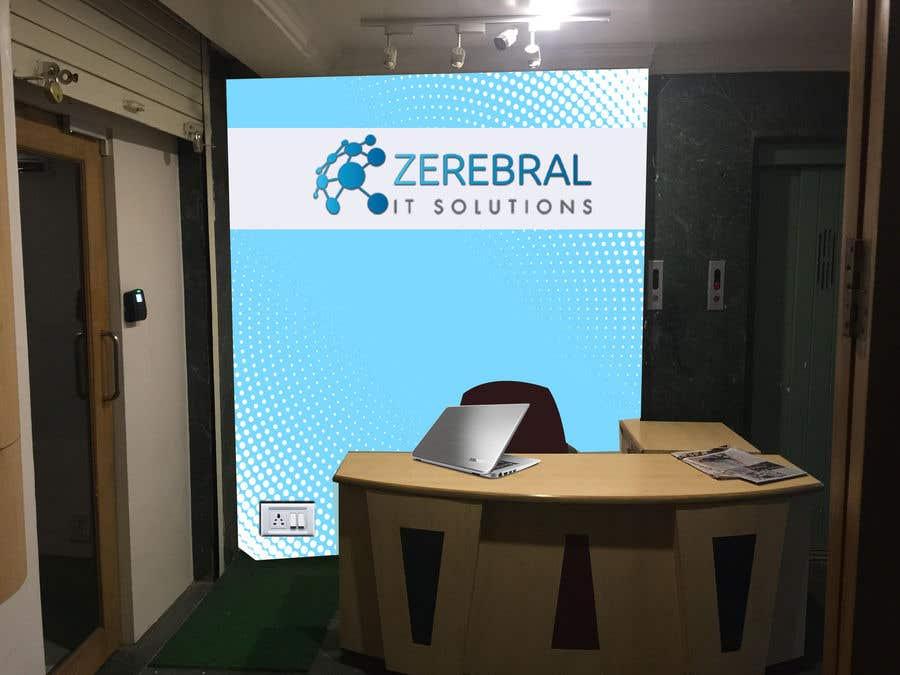 Kilpailutyö #58 kilpailussa Reception area backdrop design