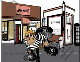 #3 для cartoon  image of thief wearing eyemask with many bags on his shoulder от ashvinirudrake13