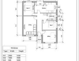 Nro 21 kilpailuun HOUSE PLAN DRAWN IN CAD käyttäjältä rawy13