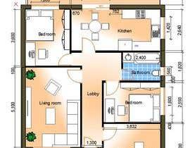 Nro 10 kilpailuun HOUSE PLAN DRAWN IN CAD käyttäjältä TMKennedy