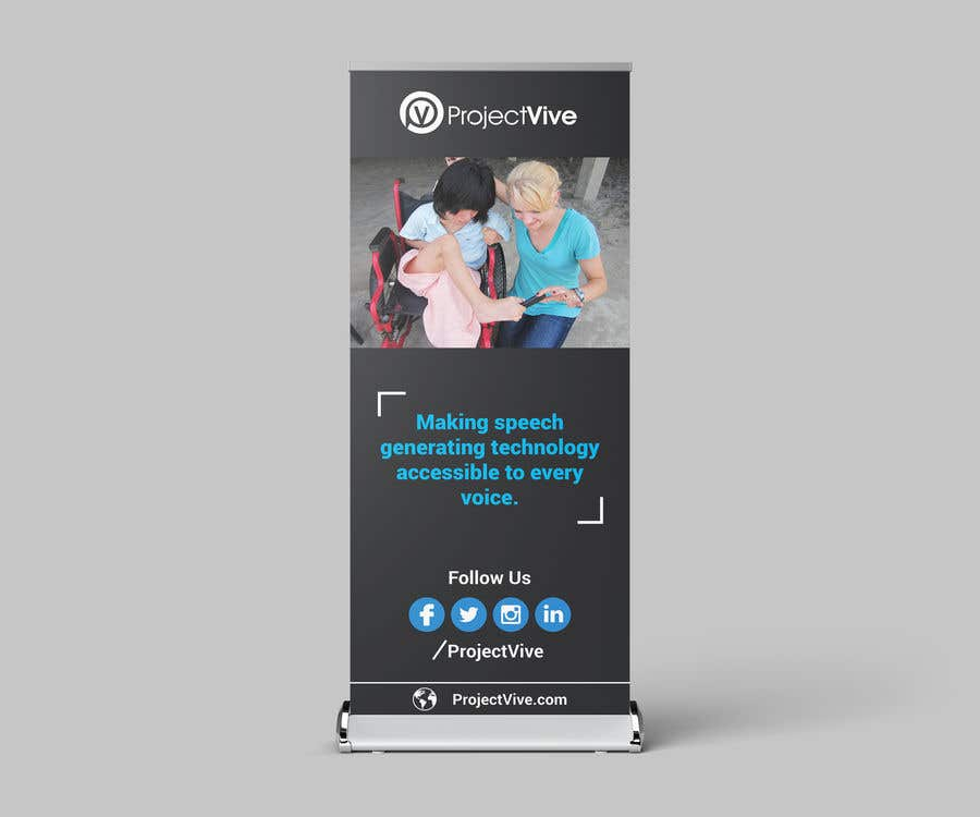 """Kilpailutyö #19 kilpailussa Create a Roll up Banner  34"""" 81"""" for a Adapted toy company for children with disabilities"""