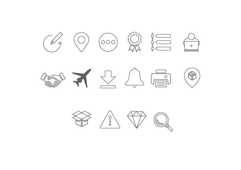 Kilpailutyö #31 kilpailussa Build me a new suite of Icons