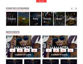 #23 for Design homepage Ticketing for events by nastasyaalt