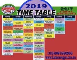 Nro 7 kilpailuun Re design timetable graphics käyttäjältä YahyaRaza0