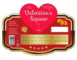 colorsitcentre tarafından Bottle label for Valentines liquer için no 21