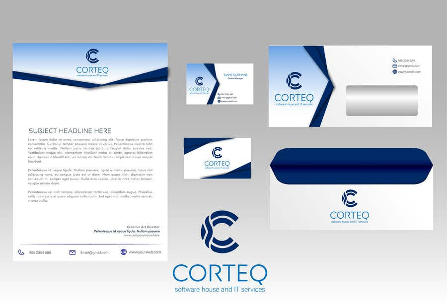 Entry #100 by MAHMOUD828 for Corporate Identity for a