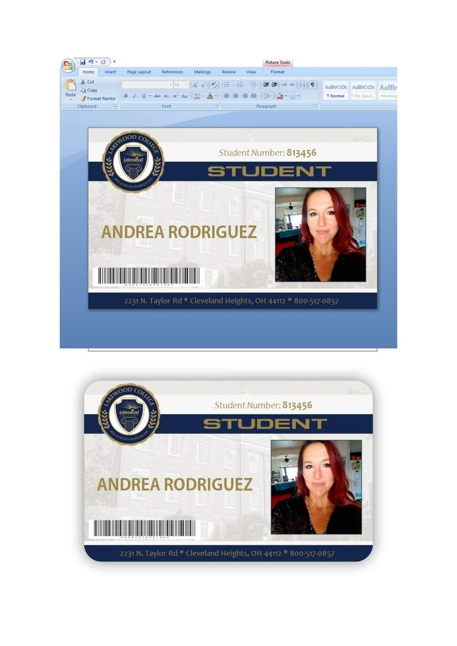 Entry #66 by fahidyounis for Design a Student ID Card