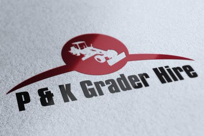 #1 for Logo Design for P & K Grader Hire by zedworks