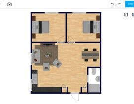 Tmachael님에 의한 Design a layout of a two bedroom flat, including furniture.을(를) 위한 #12