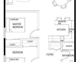 paulegan789님에 의한 Design a layout of a two bedroom flat, including furniture.을(를) 위한 #9
