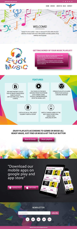 """Intrarea #3 pentru concursul """"Designs for Media and Entertainment Website"""""""