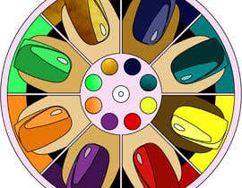 #7 for Design a nail polish game spinner by OdetteS0