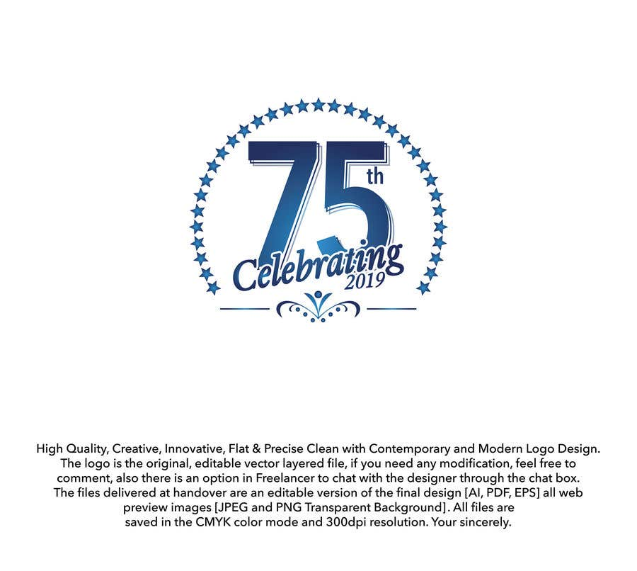 Contest Entry #23 for Revamped Logo Design - Celebrating our 75th Anniversary