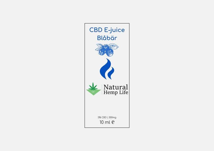 """Intrarea #5 pentru concursul """"reCreate label for CBD e-juice for health company"""""""