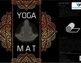 Nro 4 kilpailuun product label design for a yoga mat käyttäjältä studiodecor