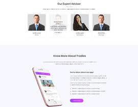 masuqebillah tarafından Design a web template that goes well with Tradies App için no 14