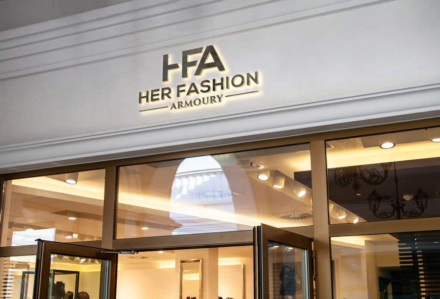 Konkurrenceindlæg #19 for 'Her Fashion Armoury' or the Acronym 'HFA' in a logo. No bright colours. Classic design. Will be for an online female clothing rental business