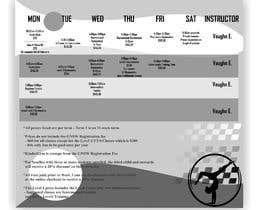 Nro 6 kilpailuun Design a timetable käyttäjältä sanleodesigns