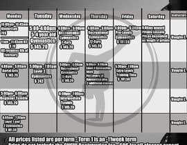 Nro 23 kilpailuun Design a timetable käyttäjältä IPucket