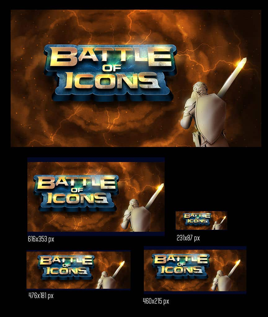Proposition n°59 du concours Video Game Title Logo + Background for title Logo