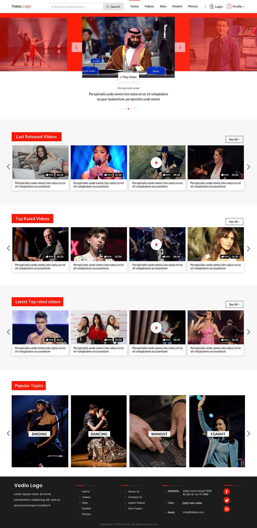 Penyertaan Peraduan #51 untuk Design landing page for the memberzone of a subscription only video website