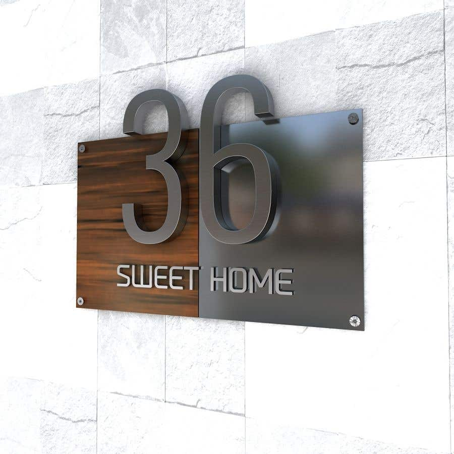 Entry 205 By Dydcolorart For Design A House Number Plate From Stainless Steel And Glass Freelancer