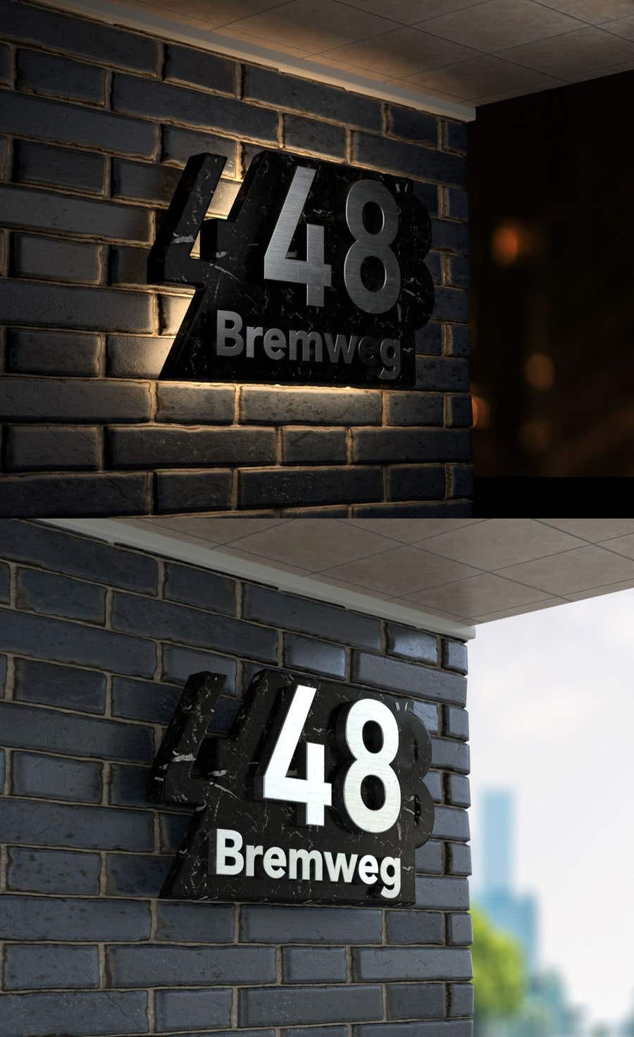 Entry 276 By Daniellassche For Design A House Number Plate