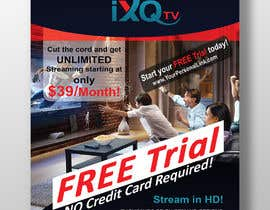 "#53 untuk Design a single sided 4"" X 6"" Flyer for TV Streaming Service oleh mdmehedi1"
