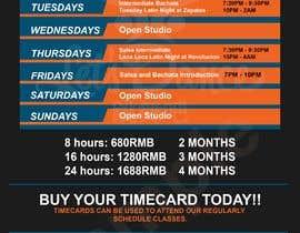 #19 pentru Make a weekly schedule for a dance studio de către Hannahyan