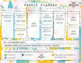 #31 pentru Make a weekly schedule for a dance studio de către moderndezigner