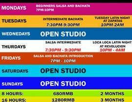 #27 pentru Make a weekly schedule for a dance studio de către JunrayFreelancer