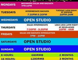 #30 pentru Make a weekly schedule for a dance studio de către JunrayFreelancer