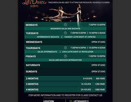 #15 pentru Make a weekly schedule for a dance studio de către sheulibd10