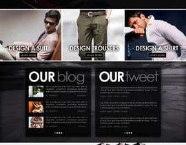 mughikrish tarafından Website Design for Magento Ecommerce Site - Mens custom clothing için no 3