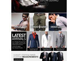 #4 cho Website Design for Magento Ecommerce Site - Mens custom clothing bởi mughikrish