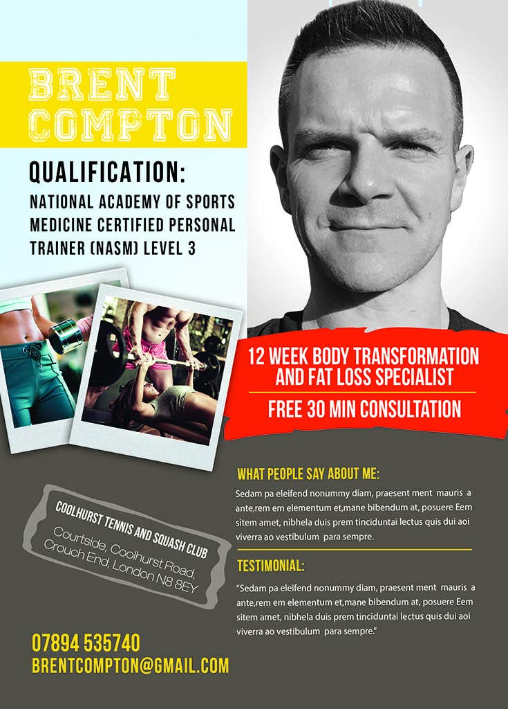 design a flyer for my personal training profile freelancer