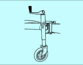 #22 for Line Drawing of Jockey Wheel by NeelSagarbd