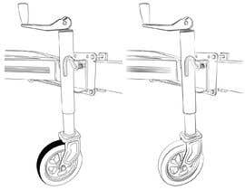 #19 za Line Drawing of Jockey Wheel od amittalaviya5535
