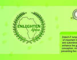 Nro 16 kilpailuun Redesign the following packaging using the two logos of Enlighten Africa and Enlighten International käyttäjältä Sandipan01