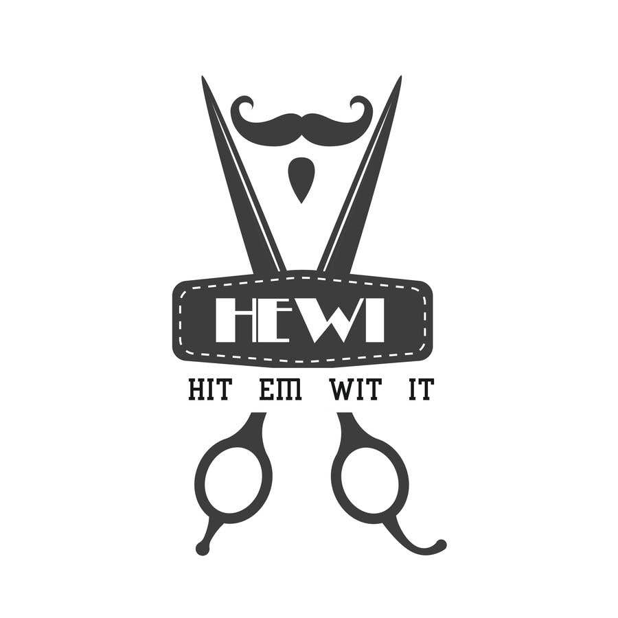 Penyertaan Peraduan #16 untuk I am looking to get a barber logo made. The attached logo has the name attached to it. Hit Em Wit It ((HEWI). I do not want the logo to have any type of fist with it. Just want it to have to do something more with being a barber.
