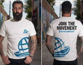#116 for T-shirt design based on existing logo (#inthesameboat) by GDProfessional