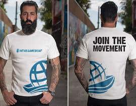 #117 za T-shirt design based on existing logo (#inthesameboat) od GDProfessional